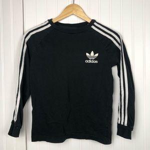 Adidas Three Stripe Logo Long Sleeve Black